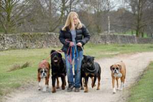 jo with dogs 3