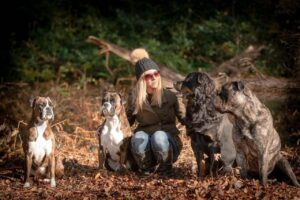 jo with her pack